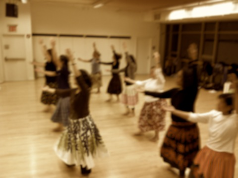 hula in a new york city dance studio