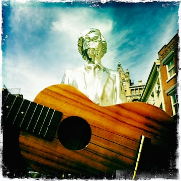 andy warhol statue union square kamaka ukulele jason poole