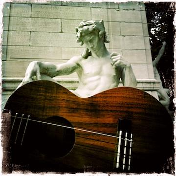 kamaka, ukulele, 6-string, tenor ukulele, central park, nyc, columbus circle, lili'u