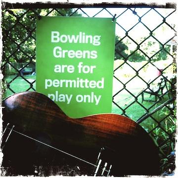 central park, bowling green, kamaka, ukulele