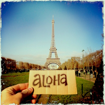 Jason Poole, Aloha, Aloha Paris, aloha i kekahi i kekahi, accidental hawaiian crooner, Molokai, Halawa Valley, Paris, eiffel tower